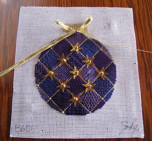 Jody Purple Sampler ornament