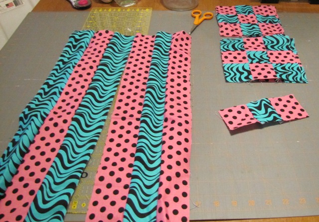 Making a quilt top from the 9 patch blocks (1/6)