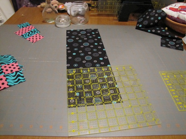 Making a quilt top from the 9 patch blocks (4/6)