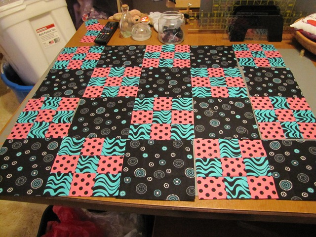 Making a quilt top from the 9 patch blocks (6/6)